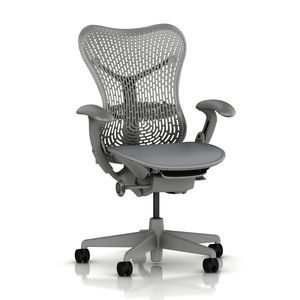 Mirra Chair Latitude Back in Shadow Grey by Herman Miller - Front