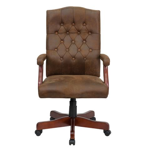 Bomber Brown Classic Executive Office Chair by Flash Furniture