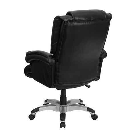 Eco-Friendly Black Leather OverStuffed Executive High Back Office Chair by Flash Furniture