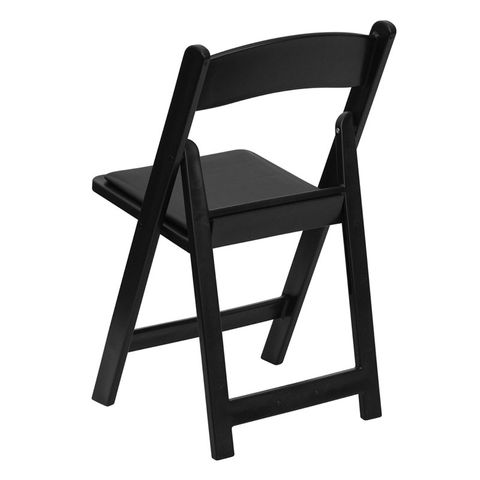 HERCULES™ 1000 lb. Capacity Black Resin Folding Chair with Black Vinyl Seat by Flash Furniture