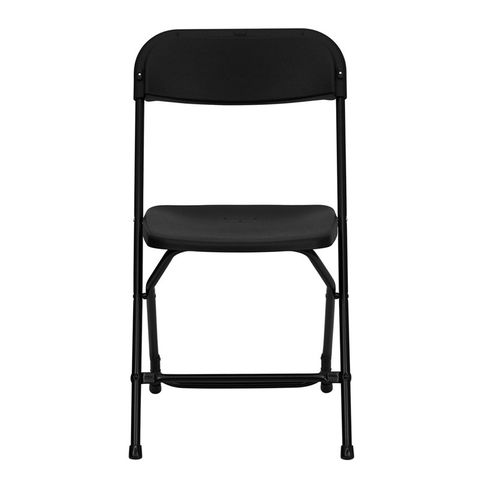 HERCULES™ 800 lb. Capacity Black Plastic Folding Chair by Flash Furniture