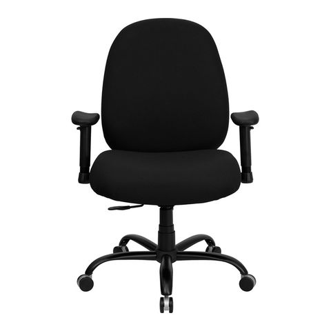 HERCULES™ 500 lb. Capacity Big and Tall Black Fabric Office Chair with Arms and Extra WIDE Seat by Flash Furniture