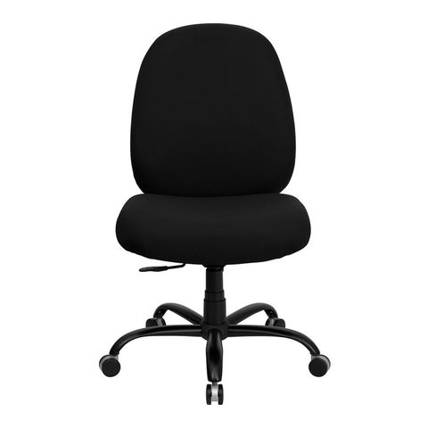 HERCULES™ 500 lb. Capacity Big and Tall Black Fabric Office Chair with Extra WIDE Seat by Flash Furniture