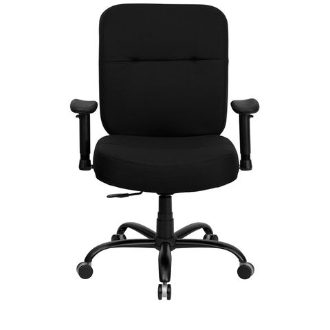 HERCULES™ 500 lb. Capacity Big & Tall Black Fabric Office Chair with Arms and Extra WIDE Seat by Flash Furniture