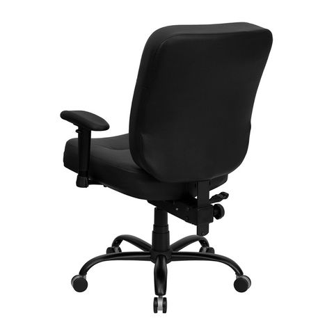 HERCULES™ 500 lb. Capacity Big and Tall Black Leather Office Chair with Arms and Extra WIDE Seat by Flash Furniture