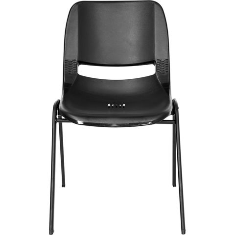 HERCULES™ Black Ergonomic Shell Stack Chair by Flash Furniture