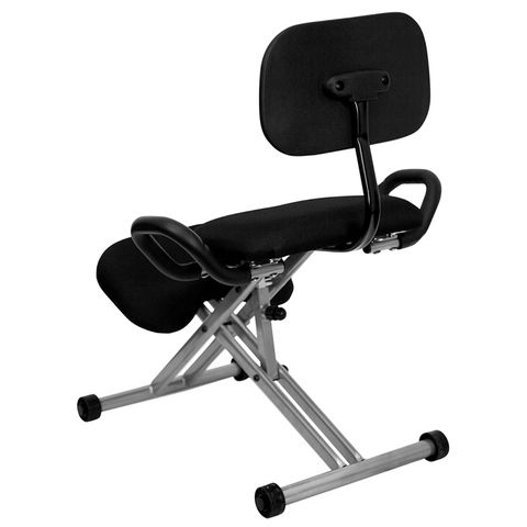Ergonomic Kneeling Chair with Handles in Black by Flash Furniture