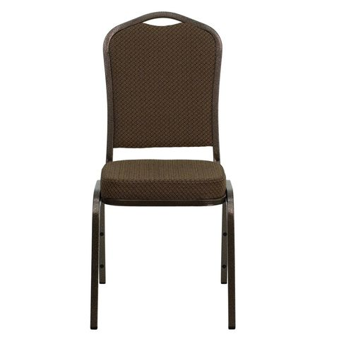 HERCULES™ Crown Back Banquet Chair with Copper Vein Frame by Flash Furniture