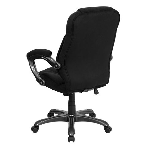 High Back Black Microfiber Upholstered Contemporary Office Chair by Flash Furniture