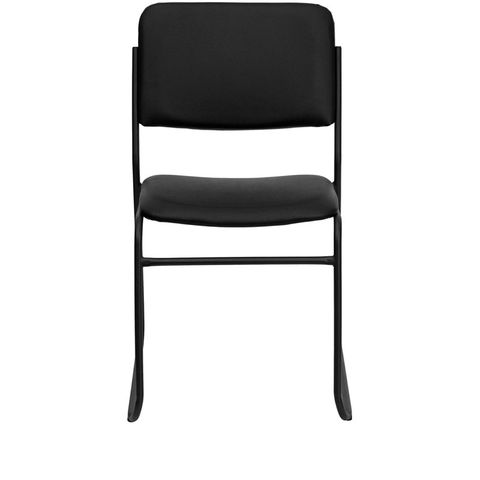 HERCULES™ High Density Black Vinyl Stacking Chair with Sled Base by Flash Furniture