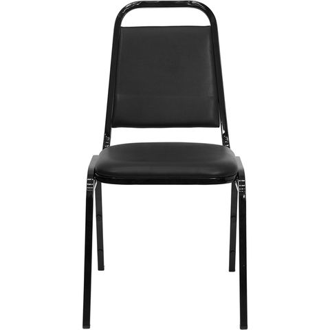 HERCULES™ Series Black Vinyl Banquet Stack Chair by Flash Furniture