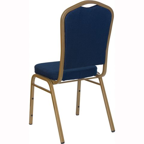 HERCULES™ Series Crown Back Stacking Banquet Chair with Gold Frame by Flash Furniture
