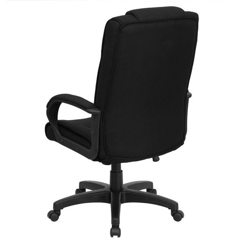 High Back Black Fabric Executive Office Chair by Flash Furniture