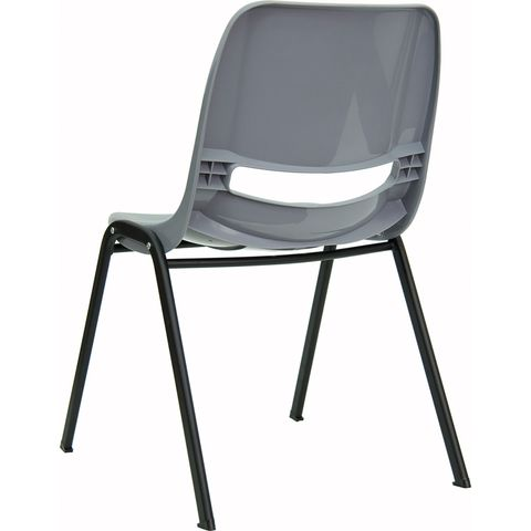 HERCULES™ Gray Ergonomic Shell Stack Chair by Flash Furniture