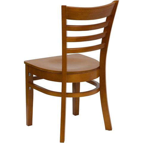 HERCULES™ Cherry Finished Ladder Back Wooden Restaurant Chair by Flash Furniture