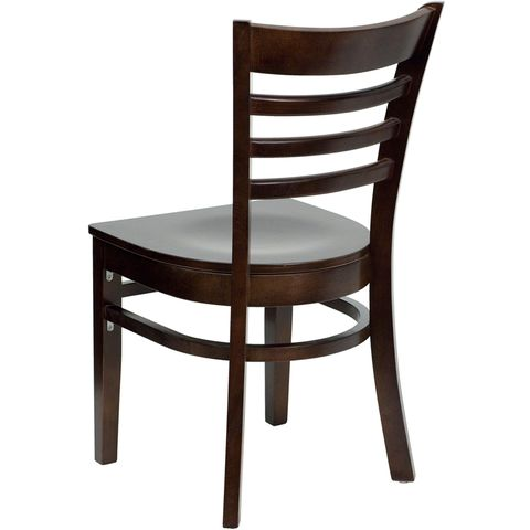 HERCULES™ Walnut Finished Ladder Back Wooden Restaurant Chair by Flash Furniture