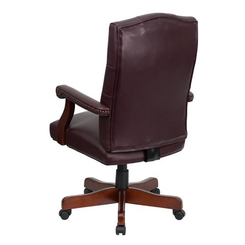 Martha Washington Leather Executive Swivel Chair by Flash Furniture