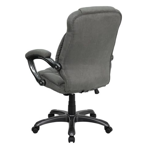 High Back Gray Microfiber Upholstered Contemporary Office Chair by Flash Furniture