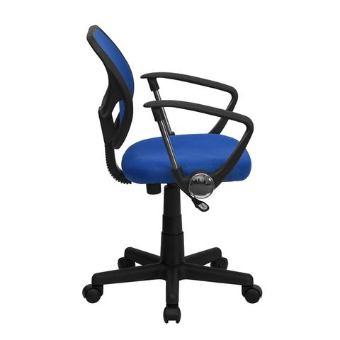 Mid-Back Blue Mesh Task Chair and Computer Chair with Arms by Flash Furniture