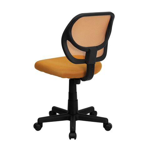 Mid-Back Orange Mesh Task Chair and Computer Chair by Flash Furniture
