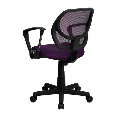 Mid-Back Purple Mesh Task Chair and Computer Chair with Arms by Flash Furniture