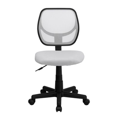 Mid-Back White Mesh Task Chair and Computer Chair by Flash Furniture