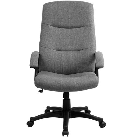 High Back Gray Fabric Executive Swivel Office Chair by Flash Furniture