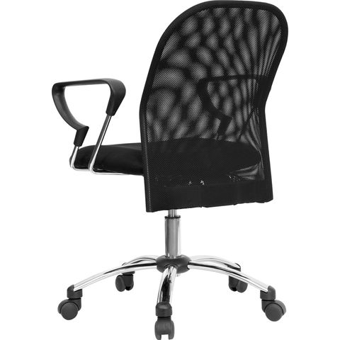 Mid-Back Black Mesh Office Chair with Chrome Base by Flash Furniture