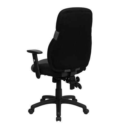 High Back Ergonomic Black and Gray Mesh Task Chair with Adjustable Arms by Flash Furniture