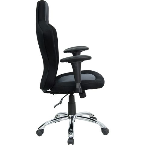 Race Car Inspired Bucket Seat Office Chair In Gray & Black Mesh by Flash Furniture