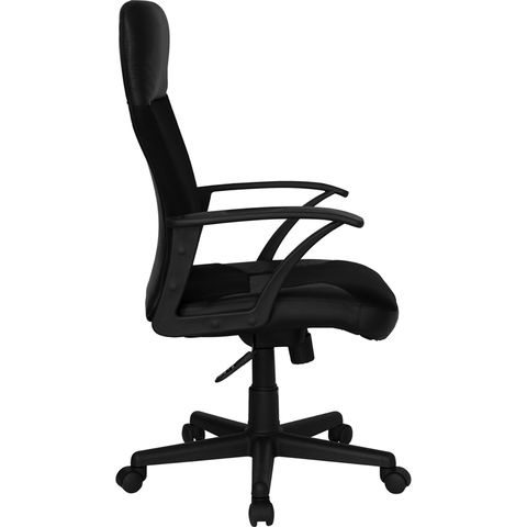 High Back Leather / Mesh Combination Executive Swivel Office Chair by Flash Furniture