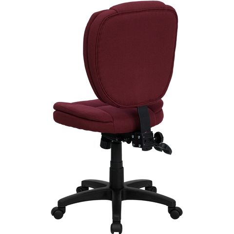 Mid-Back Burgundy Fabric Multi-Functional Ergonomic Task Chair by Flash Furniture