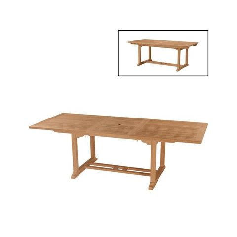 Bahama 8u0027 Rectangular Extension Outdoor Dining Table By Anderson Teak