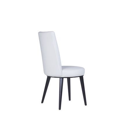 Artesia Set of Two Dining Chairs in White Leatherette Finish by Allan Copley Designs