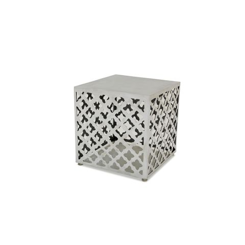 Grenada Square End Table in Polished Cast Aluminum by Allan Copley Designs