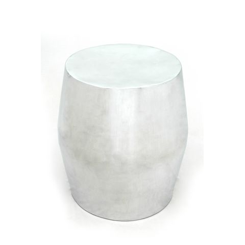 Antiqua Round End Table in Polished Cast Aluminum by Allan Copley Designs