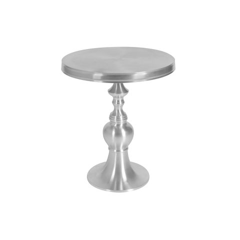 Edison Round End Table in Matte Cast Aluminum by Allan Copley Designs