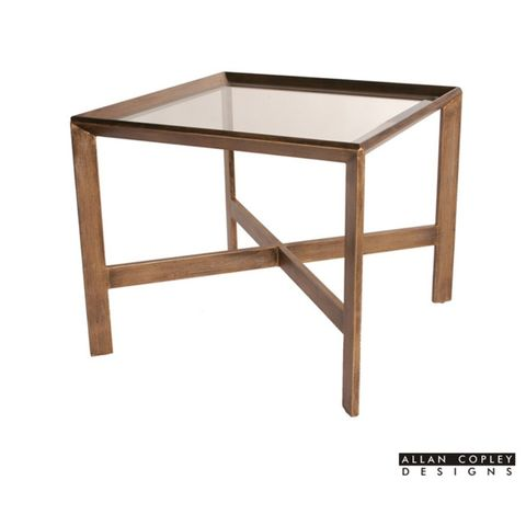 Denise Square Glass Top End Table by Allan Copley Designs