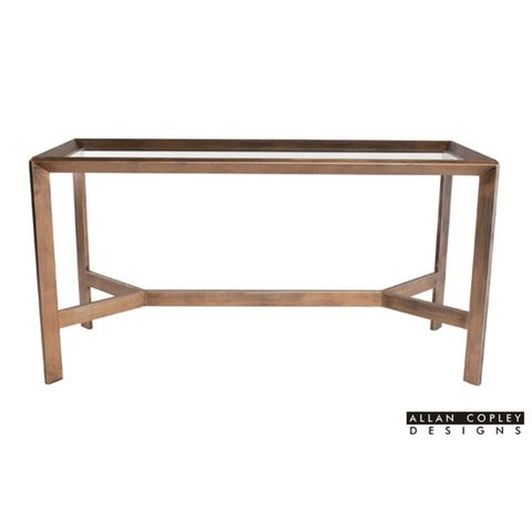Denise Glass Top Console Table by Allan Copley Designs