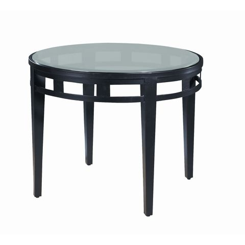 Madrid Round Glass Top End Table by Allan Copley Designs