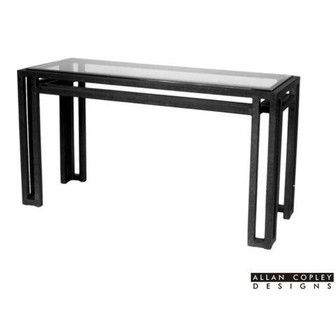 Paulette Glass Top Console Table by Allan Copley Designs