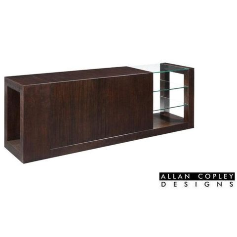 Dado 2-Door, 2-Drawer Buffet with Glass Shelves in Espresso Finish by Allan Copley Designs