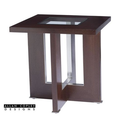 Bridget Square End Table with Glass Inset by Allan Copley Designs