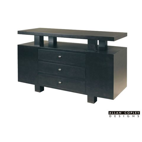 Lexington 3-Drawer Rectangular Console Table with Mid-Shelf in Expresso Finish by Allan Copley Designs