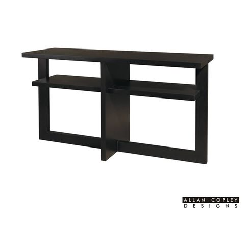 Samantha Rectangular Console Table in Espresso Finish by Allan Copley Designs