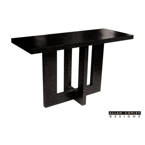 Andy Rectangular Console Table in Black on Oak Finish by Allan Copley Designs