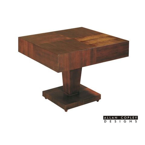 Sarasota Square End Table with Pedestal Base In Walnut on Walnut Finish by Allan Copley Designs