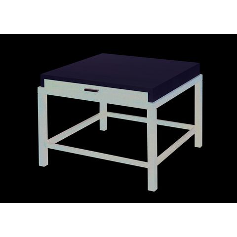 Spats 1-Drawer Square End Table in Espresso Finish with White on Ash Top by Allan Copley Designs