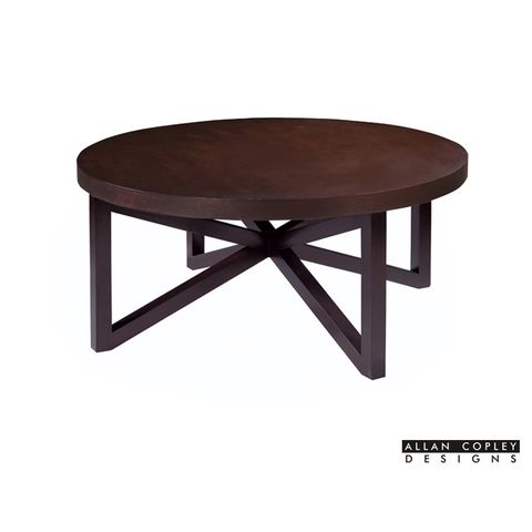 Snowmass Round Cocktail Table in Espresso Finish by Allan Copley Designs