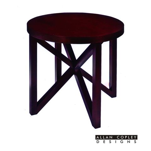 Snowmass Round End Table in Espresso Finish by Allan Copley Designs